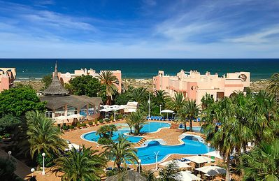 Oliva Nova Holiday Apartment. The photo shows the Oliva Nova Golf Hotel Complex