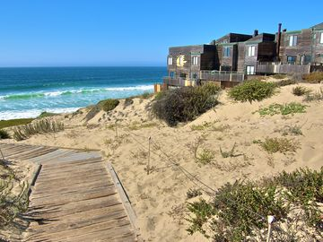 """Monterey house rental - Welcome to """"Sanctuary-in-the-Dunes""""! Very romantic oceanfront end unit condo. Panoramic ocean views, sunrises and sunsets and miles of beach to walk."""