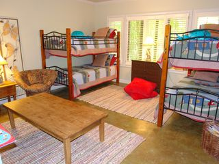 Big Canoe house photo - Terrace level kids bunk room with a cozy book nook.