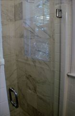 Downtown - Washington DC house photo - Master bathroom in Master bedrm w modern glass encased shower.