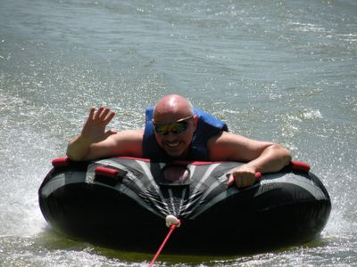 Our Friend Jason Enjoying His Favorite Water Sport