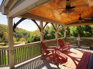 Asheville house photo - expansive deck