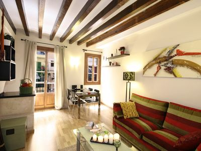 Palma de Mallorca apartment rental - living area with access to balcony