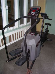 Some equipment in the Bldg. 3 Atrium Workout Room