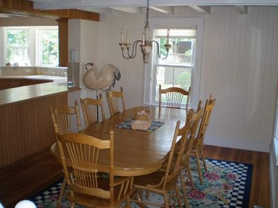 Falmouth house rental - Diningroom with table that could seat up to 10