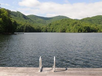 Tuckasegee cottage rental - Bear Lake from Laughing trout pavilion