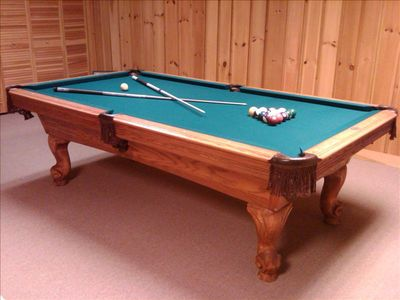 Game Room with Pool Table----------have a pool tournament with the family