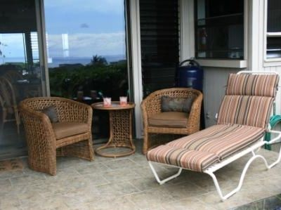 You'll relax on the lanai and enjoy views of the ocean and the Island of Lanai.