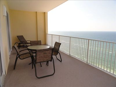 Relax out on the 280 sq ft balcony -- Coffee - Tea - Wine??  ahhhhh