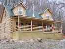 'Uncle Jed' full length porch - DeSoto cabin vacation rental photo