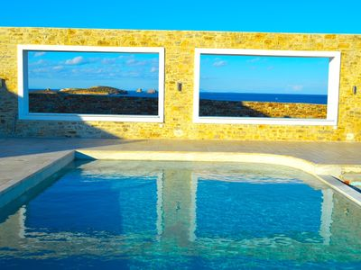 Antiparos villa rental - NORTH VIEW FROM POOL