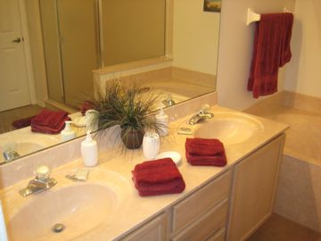 En-suite bathroom - bath and shower
