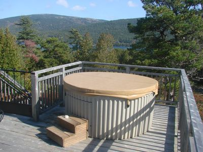 Somes Sound cottage rental - Hot Tub on upper deck