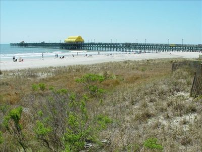 The famous Apache Pier offers fishing and snacks or . . .
