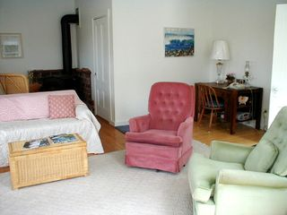 Deer Isle house photo - The living room has TV, VCR and seating for six.