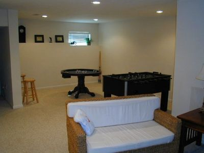 Basement is great  for kids or a another family. Has foosball & bumper pool too