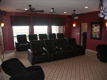 Theatre Room with 3 Flatscreens or Video Projector