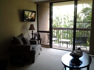 Looking out onto the lanai