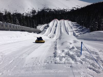 Enjoy tubing at the top of the mountain