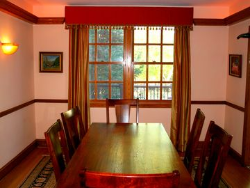 The comfortable dining room!