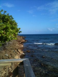 Ocean view from deck- Grab your gear and swim/snorkel right into the reef