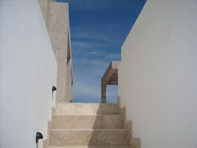 Stairway to Terrace--Lower rooms