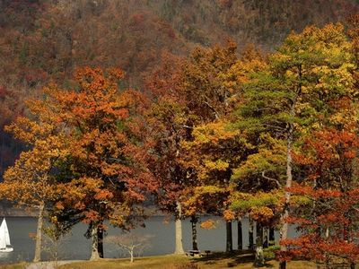 Enjoy a brilliantly colored fall and Thanksgiving at Watauga Lake!