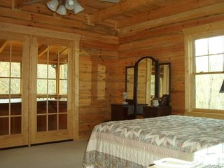 Wears Valley cabin photo - Master BR with Access to Hot Tub