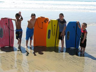 San Quintin house photo - And the boogie board club.