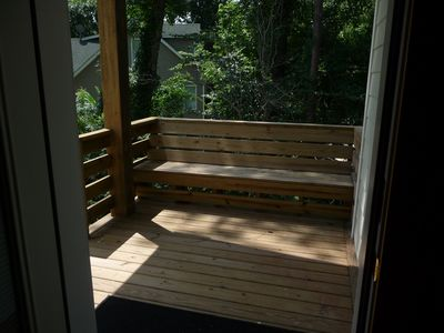 Private Back porch off of Master Bedroom.