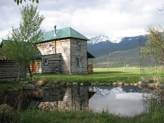 Gardiner cabin photo - second pond--the mountain is in Yellowstone Park -18000 feet.