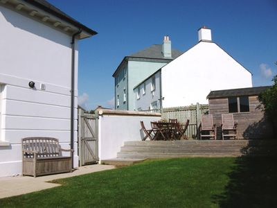 Newquay house rental - Private Sunny Garden with Large Deck