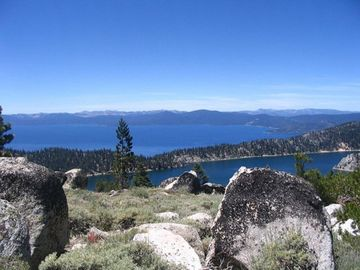 View from the Tahoe Rim trail looking down at Marlett and Tahoe below-Beautiful!