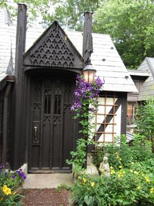 One of the many great Gothic doors you'll see as you walk through the village.