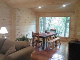 Cleveland cabin photo - View of the dining room overlooking the river