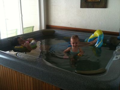 Fun in the hot tub.