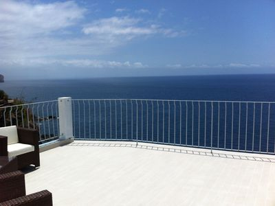 surf terrace with amazing views of the sea and bay of Funchal