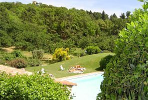 La Garde Freinet apartment rental - Swimming pool and view from apartment