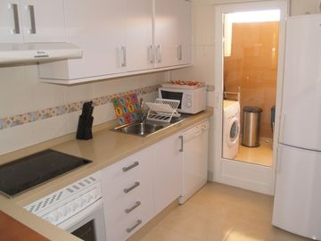 Large kitchen and utility room
