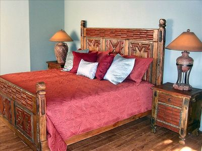 King Bedroom 2. Gorgeous handmade furniture!