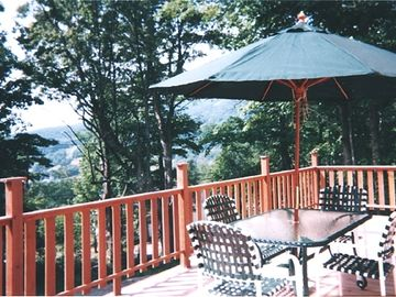 Elevated Deck (Gas BBQ, Summer View of Mount Snow)