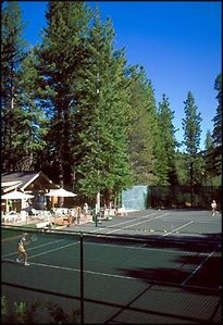 Tennis courts and camps are available for guests.