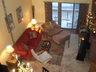 Mount Snow condo photo - Living Room Looking Down From Loft