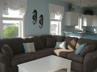 Wildwood Crest condo photo - A big comfortable sectional sofa provides room for everyone