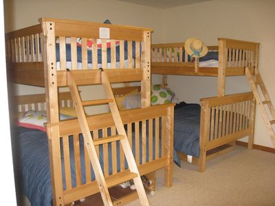 Lower level bunk room.