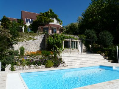 Au Coeur Des Châteaux  typical character house of 300 square feet with swimming