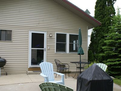 Charlevoix house rental - Back Patio