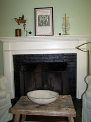 Barnstable house photo - Cozy fireplace