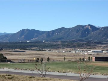 Colorado Springs townhome rental - Direct views of USAFA, front range and a bit of Pike's Peak on the right.
