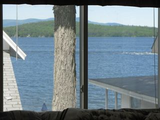 Weirs Beach house photo - View from the family room onto the lake.